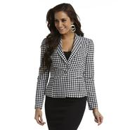 Kardashian Kollection Women's Crepe Blazer - Houndstooth Check at Sears.com