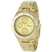 Armitron Mens Multi-Function Gold-tone Watch w/Champagne Dial & Stainless Steel Case at Kmart.com