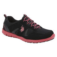 U.S. Polo Assn. Women's Lynda Black/Fuchsia Slip-On Athletic Shoes at Sears.com