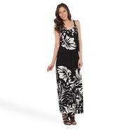 Robbie Bee Women's Popover Maxi Sundress - Tropical Leaf at Sears.com