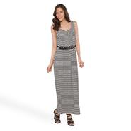 Robbie Bee Women's Belted Maxi Sundress - Nautical Stripe at Sears.com