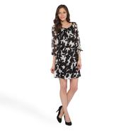 Halo Women's Sheer Floral Dress & Belt at Sears.com