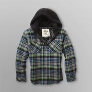 Route 66 Boy's Hooded Flannel Shirt Jacket - Plaid at Sears.com