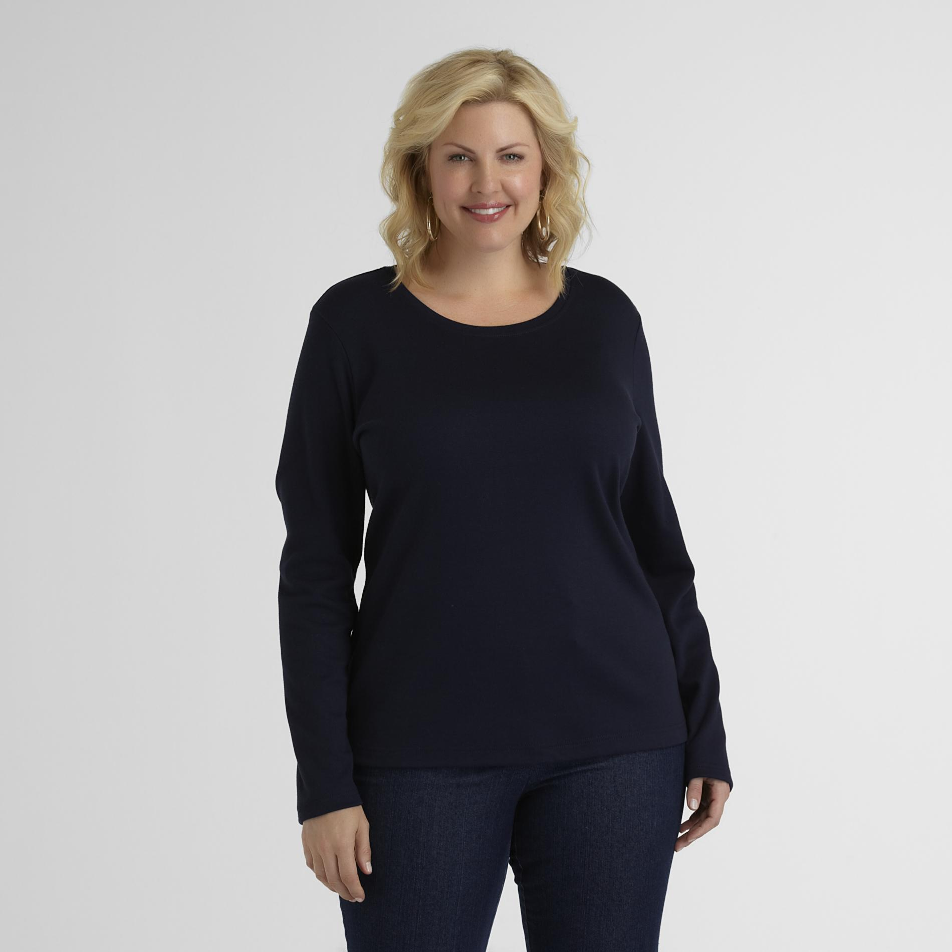 Basic Editions Women's Plus Relaxed Fit T-Shirt at Kmart.com
