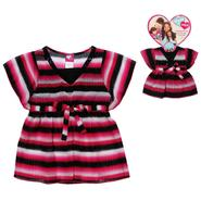 What A Doll Girl's Striped Chiffon Top & Doll Shirt at Kmart.com