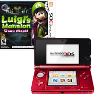 Nintendo 3DS Game Console Flame Red with Game Bundle ...