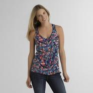 Route 66 Women's Button-Front Tank - Floral at Kmart.com