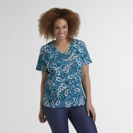 Basic Editions Women's Plus Modern Fit T-Shirt - Paisley at Kmart.com