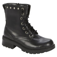 Bongo Women's Hayward Mid-Calf Black PU Lace-Up Boot at Kmart.com