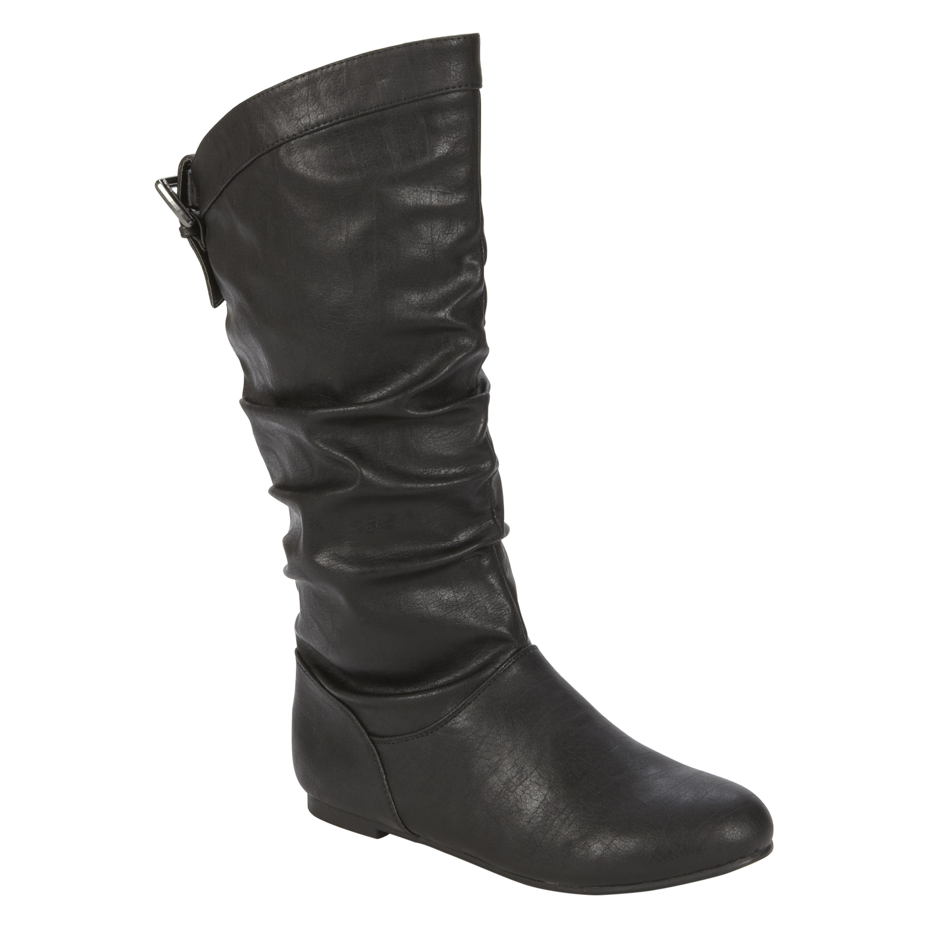Women's Josilyn Mid-Calf Black Flat Heel Boot