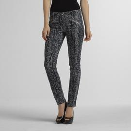 Route 66 Women's Skinny Jeans - Animal Print at Kmart.com