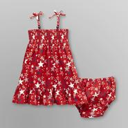 WonderKids Infant & Toddler Girl's Smocked Sundress - Stars at Kmart.com