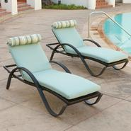 RST Outdoor Bliss™ Deco Lounger with Mattress and Bolster Pillow Set (2-Pack) at Kmart.com