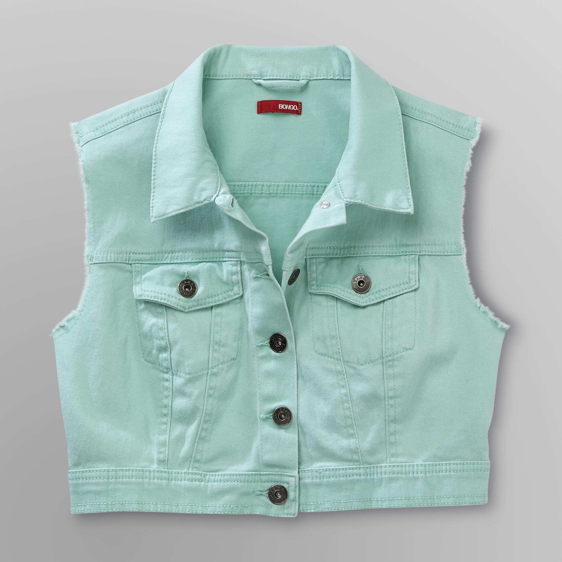 Junior's Colored Denim Vest