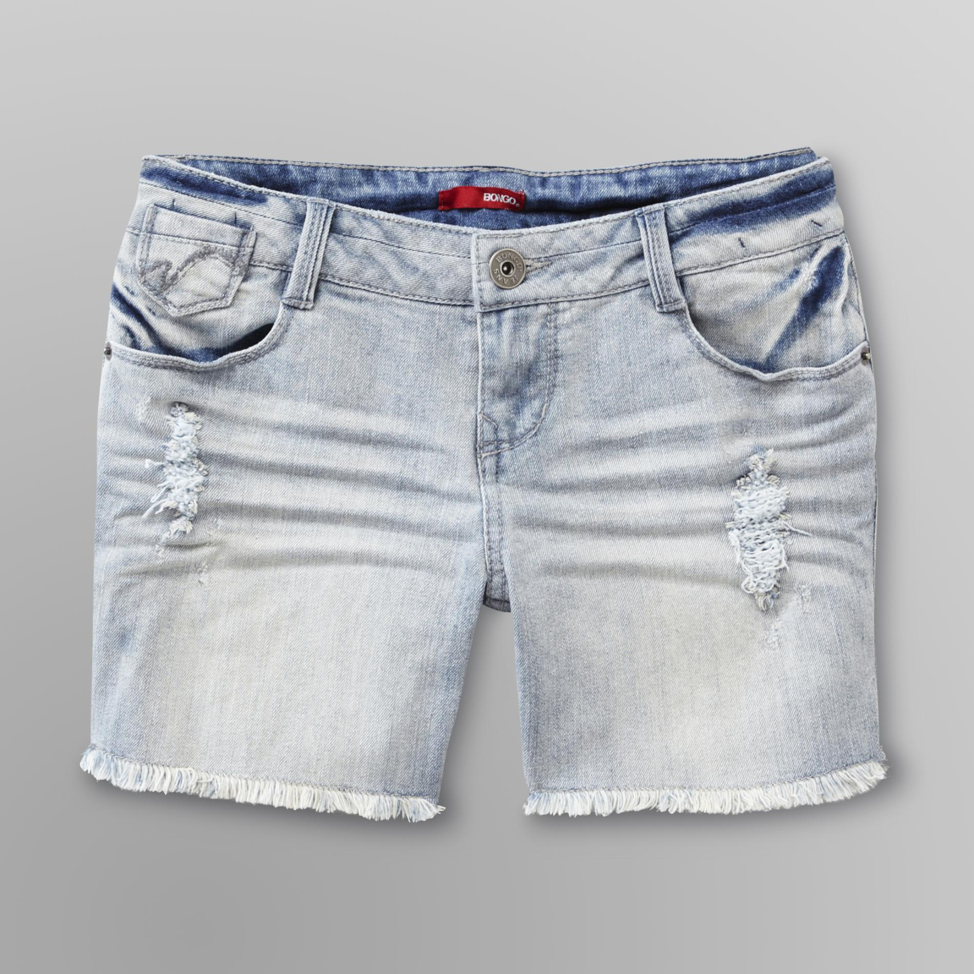 Junior's Frayed Hem Jean Shorts