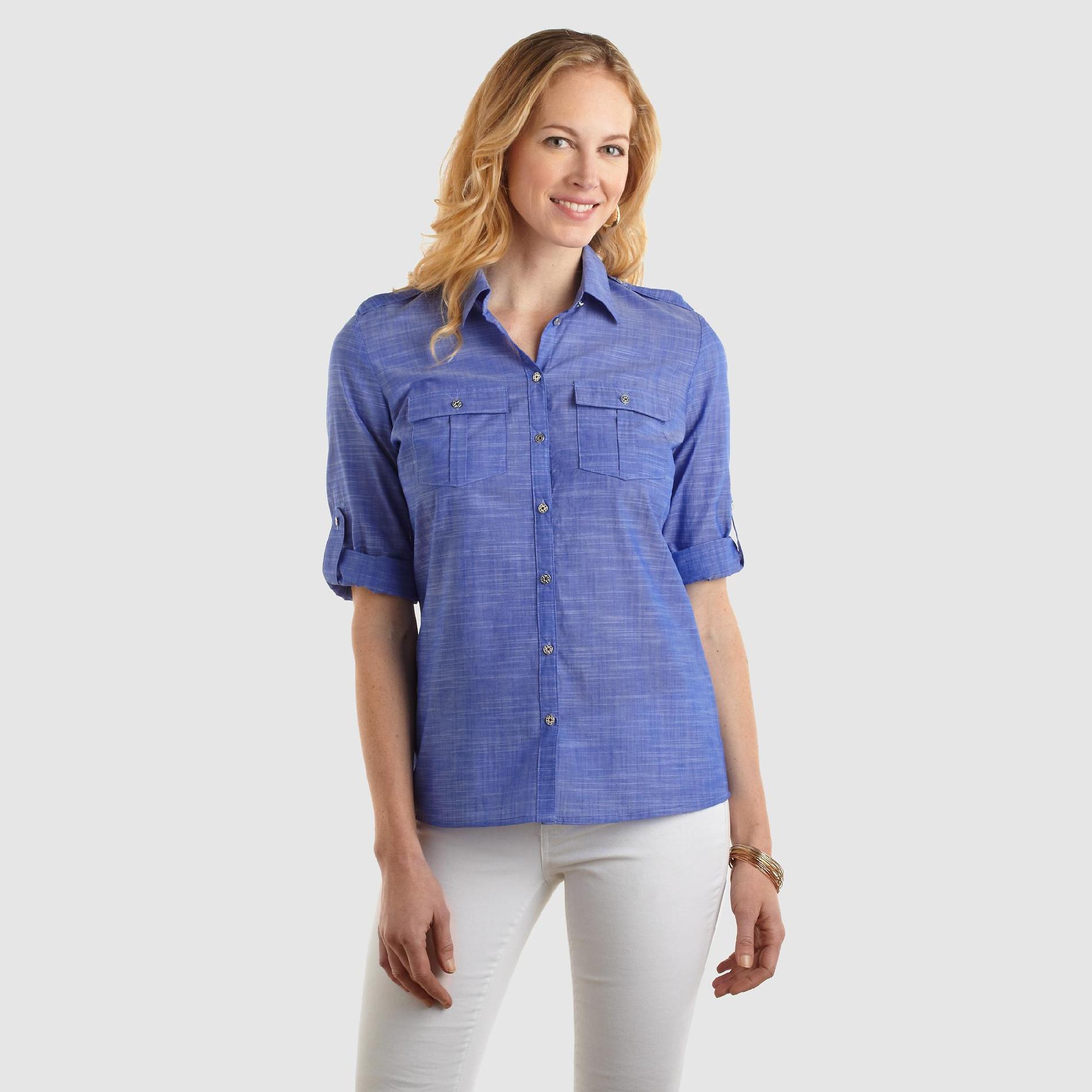 Jaclyn Smith Women's Utility Shirt