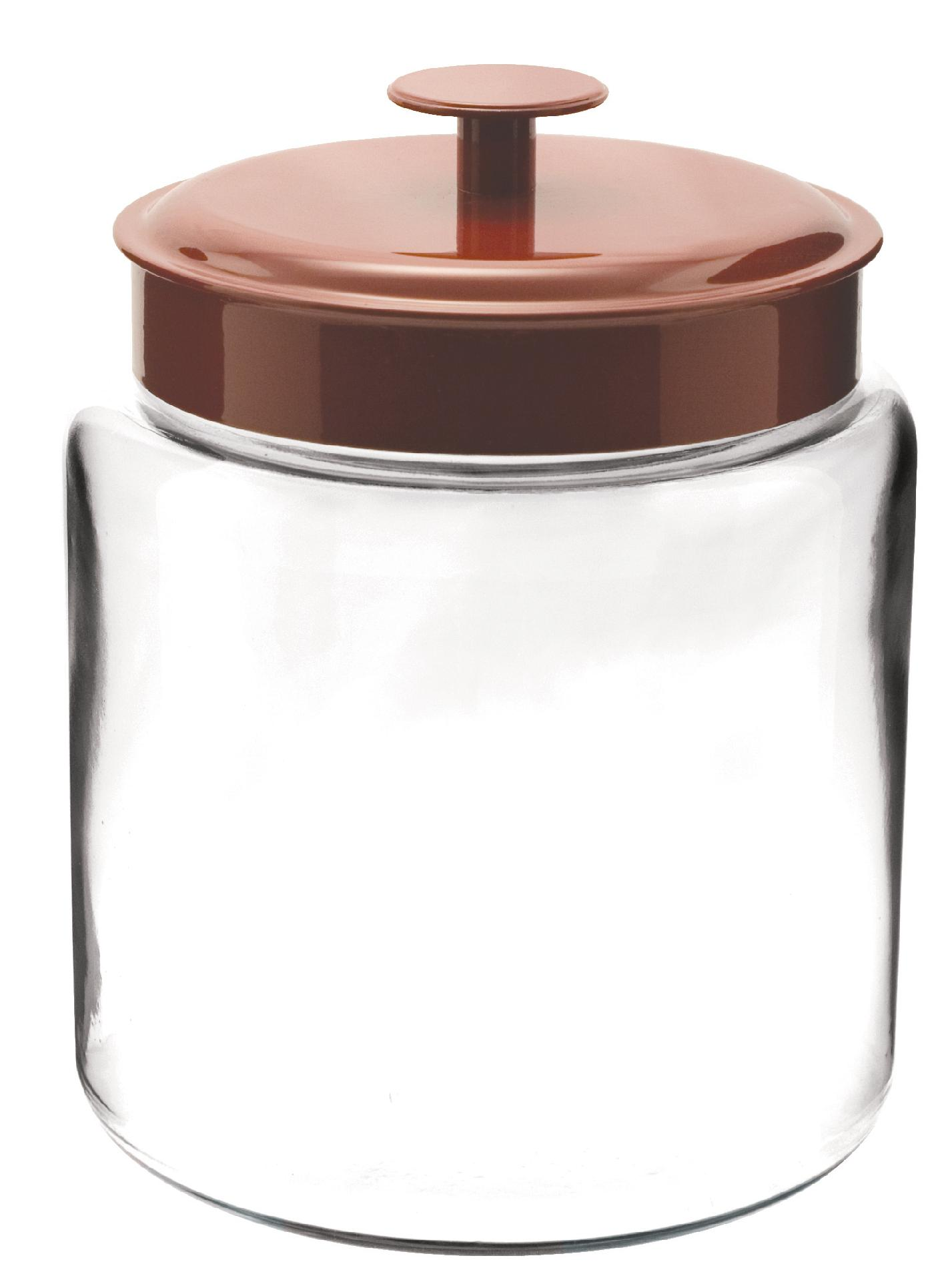 Anchor Hocking Montana Storage Glass Jar, 96-Ounce- Red Aluminum Lid PartNumber: 011W096516311001P KsnValue: 96516311 MfgPartNumber: 95583
