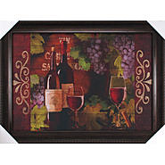 Wine Bottle Mate Framed Canvas Wall Art 24 X 34 Inch at Kmart.com