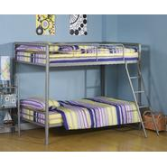 DHP Twin Over Twin Bunk Bed - Silver at Kmart.com