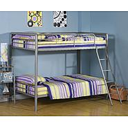 DHP Twin Twin Bunk Bed Silver at Kmart.com
