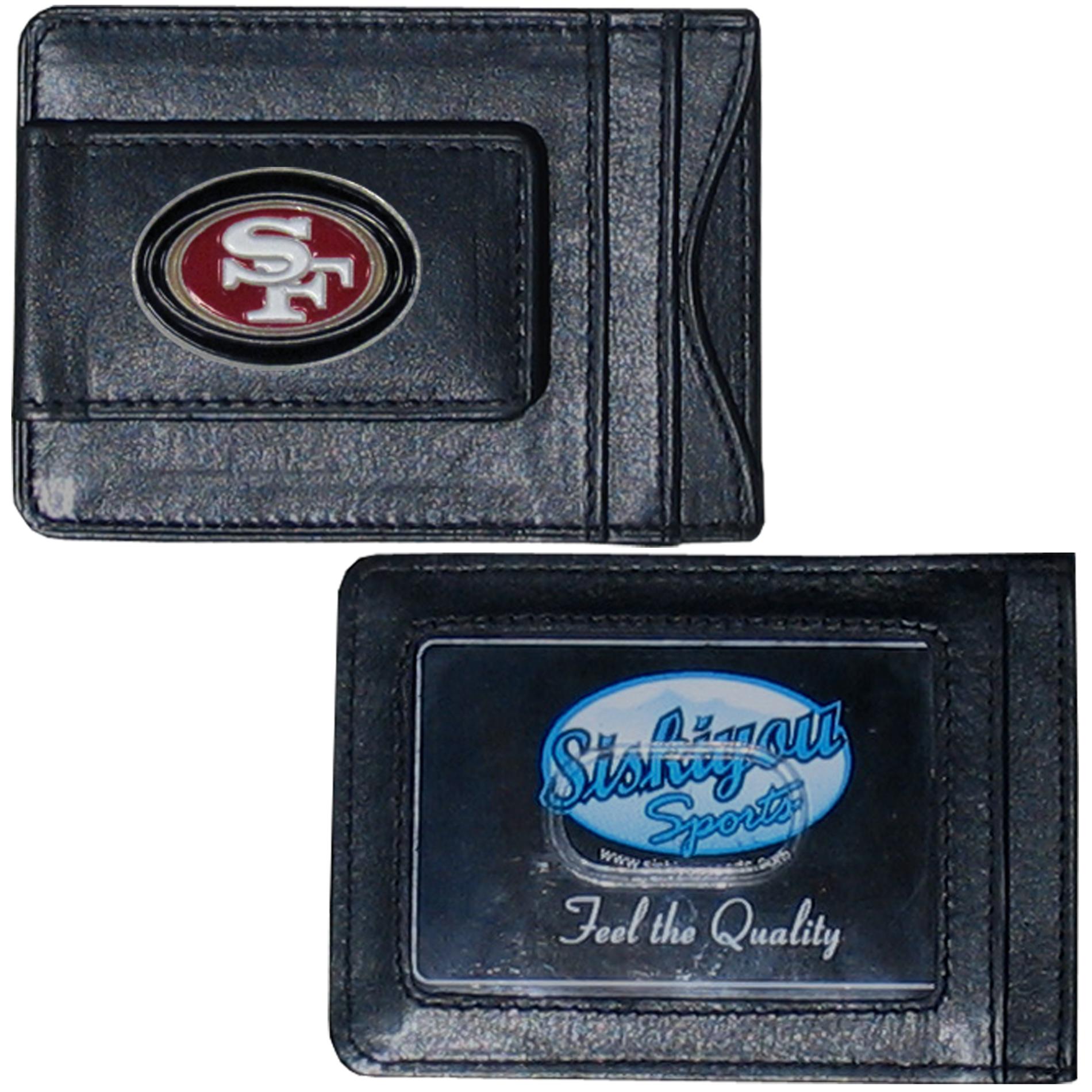 Siskiyou San Francisco 49ers NFL Magnetic Money Clip and Card Holder