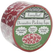 "Decorative Packing Tape 1.875"" Wide 25 Yard Roll Red Scroll at Kmart.com"