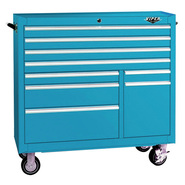 "Viper Tool Storage 41"" 9 Drawer 18G Steel Rolling Cabinet, Teal at Sears.com"