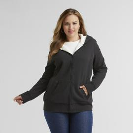 Basic Editions Women's Plus Fleece Hoodie Jacket at Kmart.com