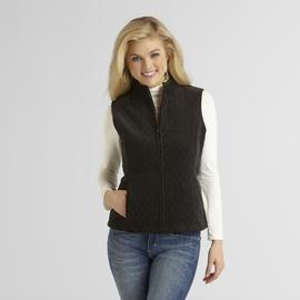 Basic Editions Women's Quilted Corduroy Vest at Sears.com