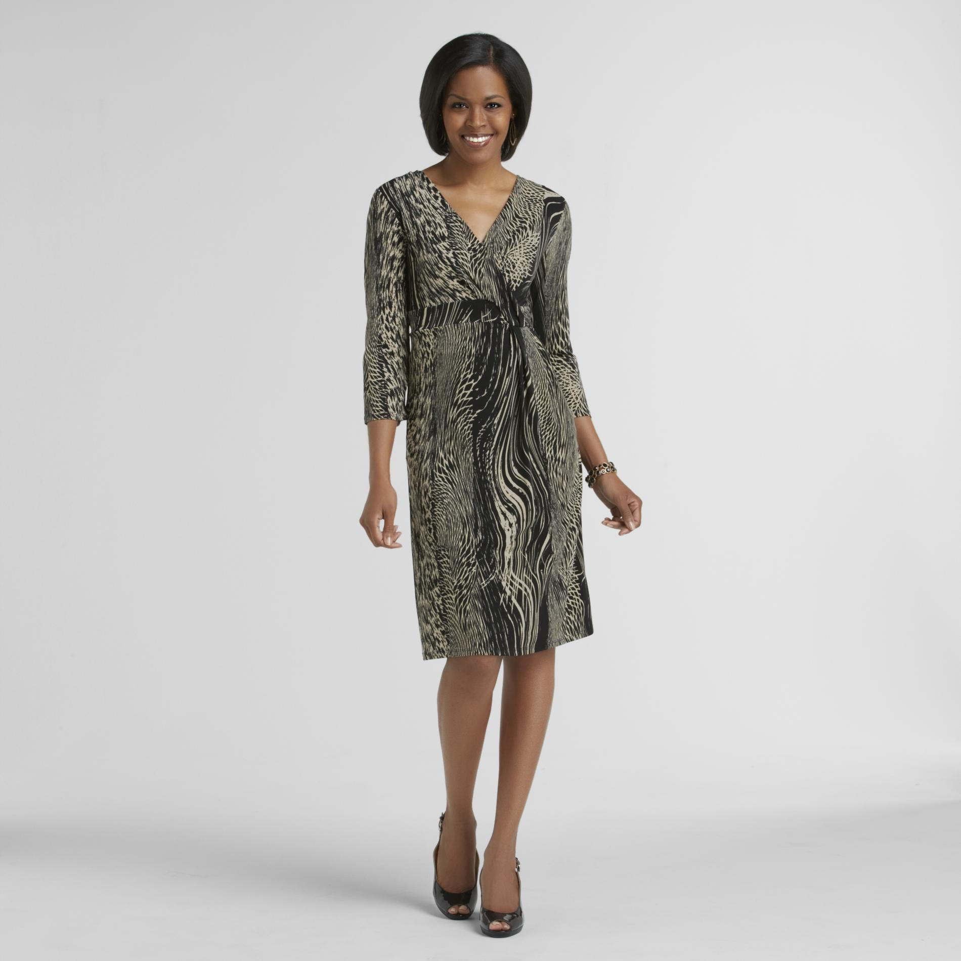 Jaclyn Smith Women's Faux Wrap Dress - Animal Print at Kmart.com
