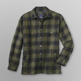 Basic Editions Men's Flannel Shirt Jacket - Plaid at Kmart.com