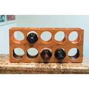 Lipper International Bamboo 5 Bottle Stackable/Wall Mountable Wine Rack at Kmart.com