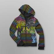 Piper Girl's Graphic Hoodie Jacket - Neon Stripe at Kmart.com