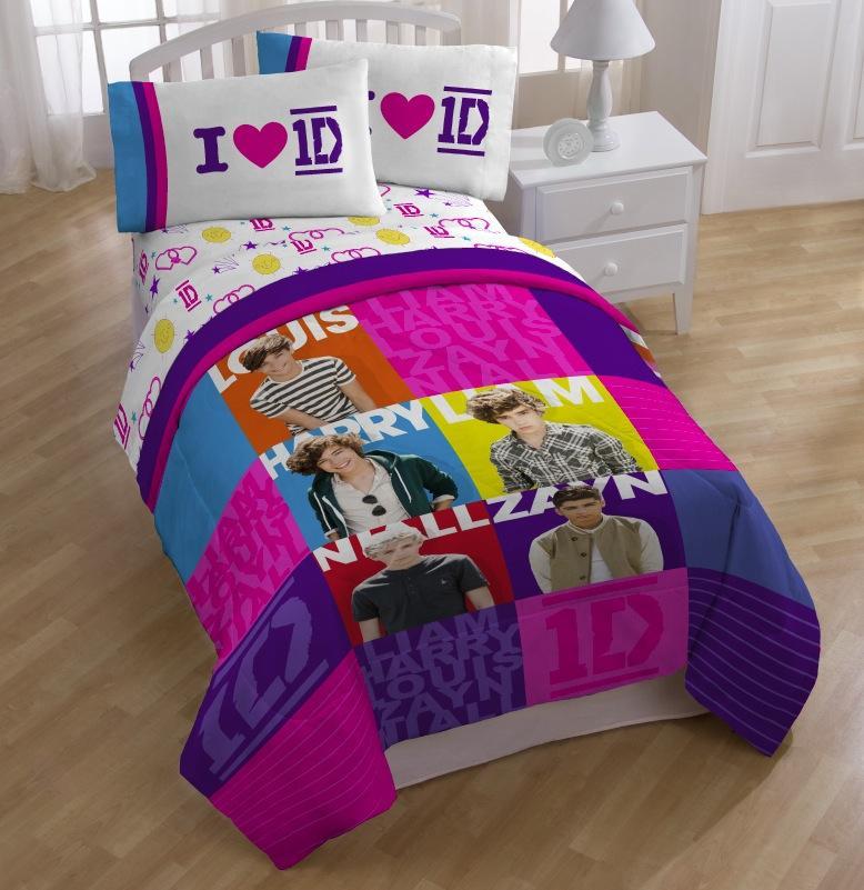 home one direction i 1d twin size comforter set bed mattress sale. Black Bedroom Furniture Sets. Home Design Ideas