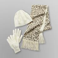 Jaclyn Smith Women's Winter Hat, Gloves & Cheetah Print Scarf at Sears.com
