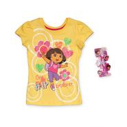 Nickelodeon Dora the Explorer Girl's T-Shirt & Barrettes at Sears.com