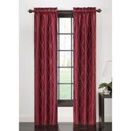 The Great Find Embroidered Wave Window Panel Pair - Red at Kmart.com