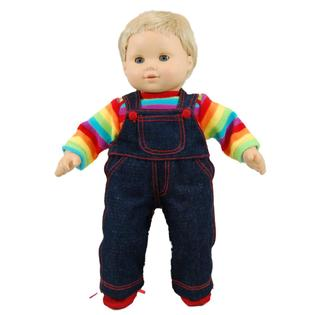 "The Queen's Treasures Twin Rainbow Overalls Fits 15"" American Girl® Bitty Baby"