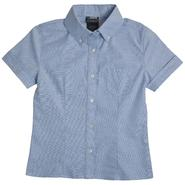 At School by French Toast Girls Plus Short Sleeve Oxford Blouse with Darts (Blue) at Kmart.com