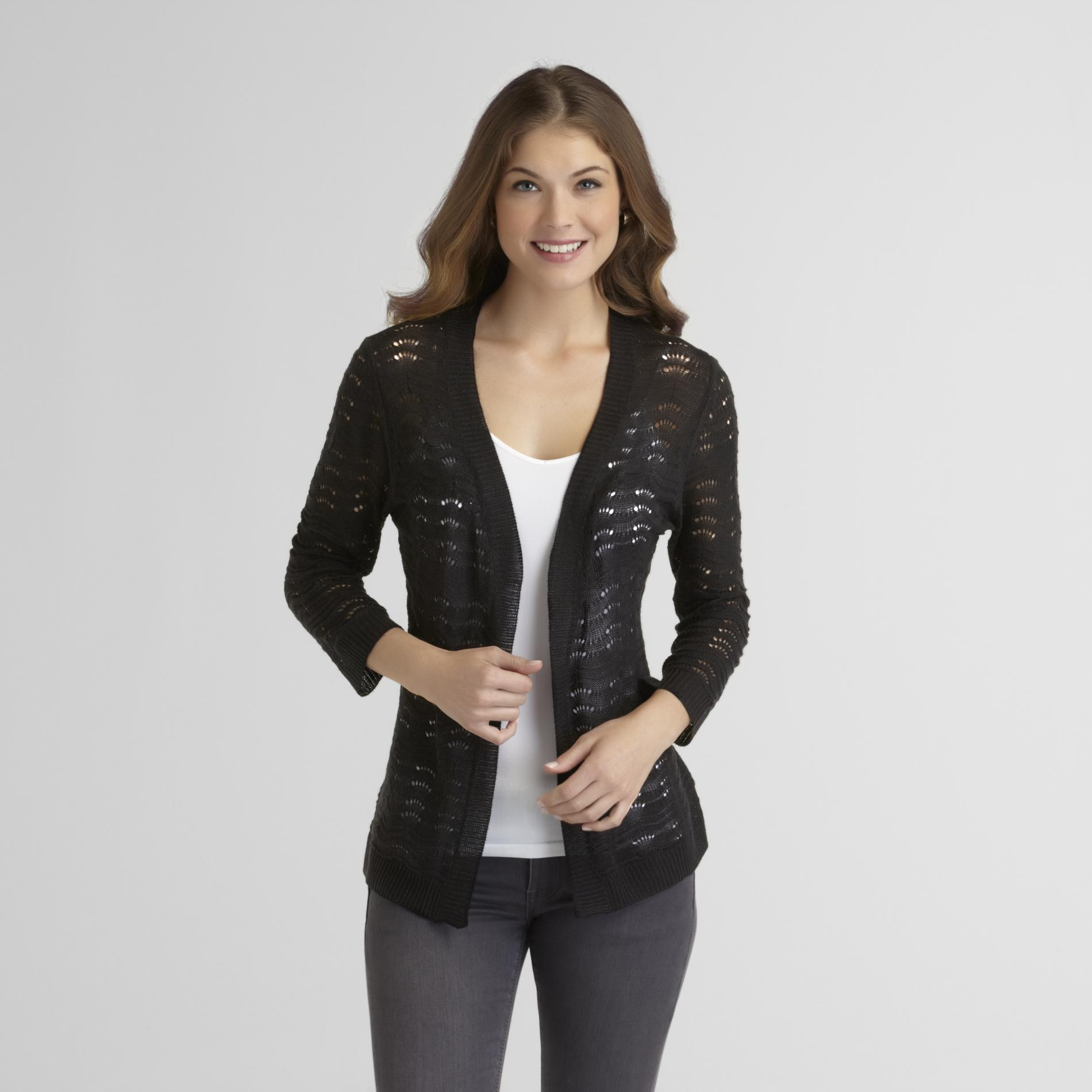 Women's Pointelle Cardigan
