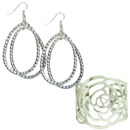 Studio S Trendy Silvertone Accessories Bundle at Sears.com