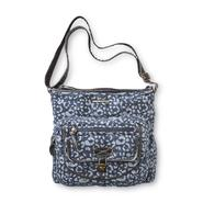 Joe Boxer Women's Island Denim Crossbody Handbag - Leopard Print at Kmart.com