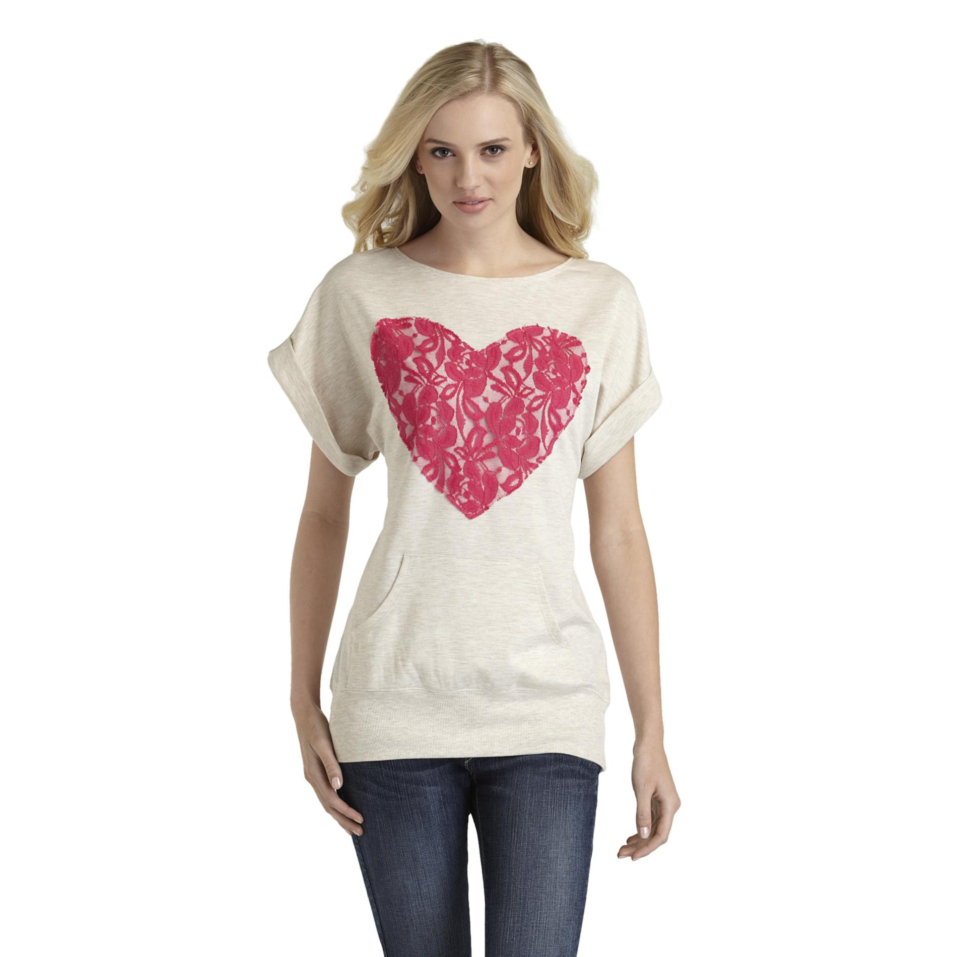 Joe by Joe Boxer Women's Tabbed-Sleeve Sweatshirt - Heart at Sears.com