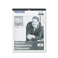 Rediform Application for Employment, 8-1/2x11, 50-Form Pad at Kmart.com