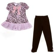Young Hearts Girl's Tunic Top & Leggings - Tiger/Bow at Sears.com