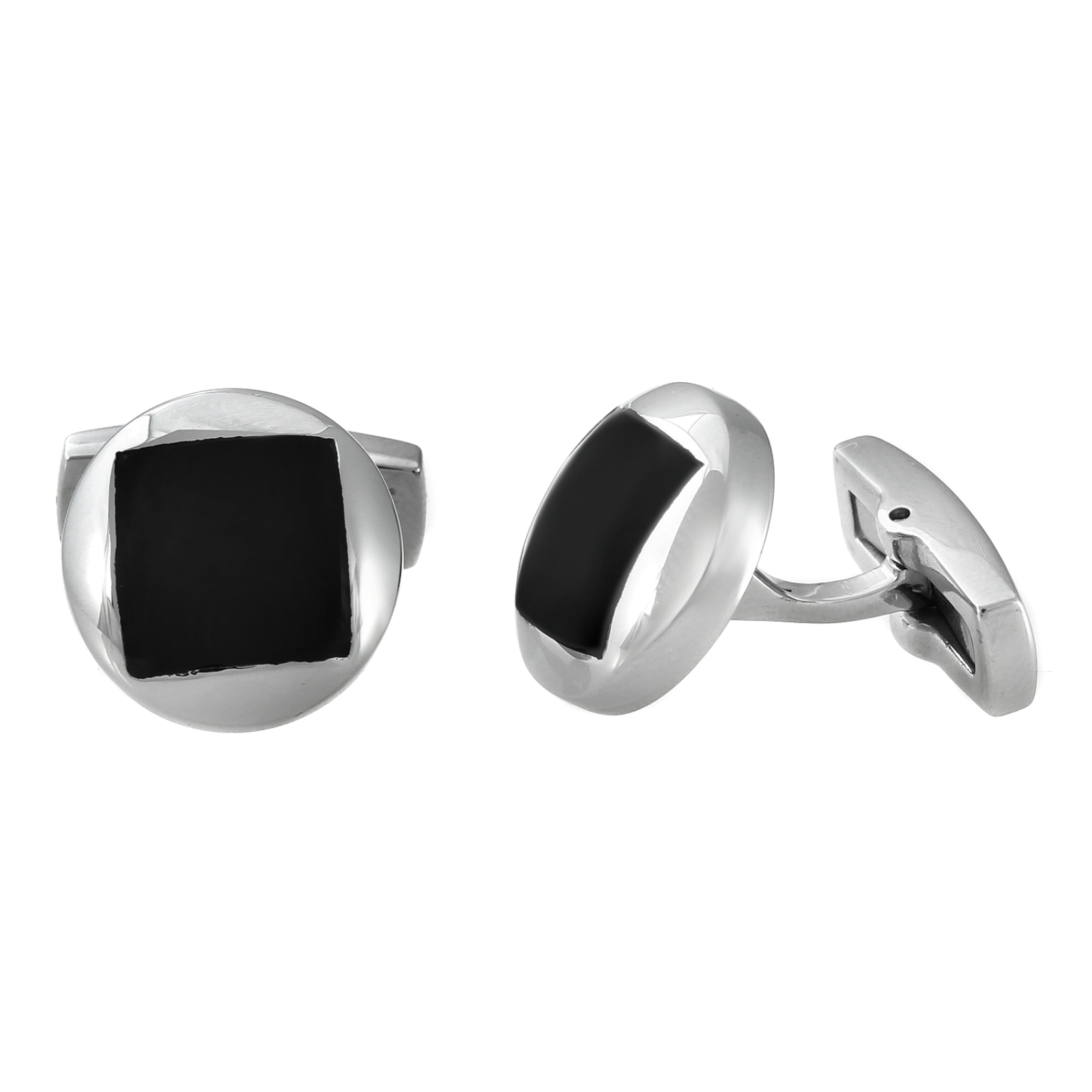 Stainless Steel Onyx Cuff Links PartNumber: 04437840000P KsnValue: 5859613 MfgPartNumber: STC074