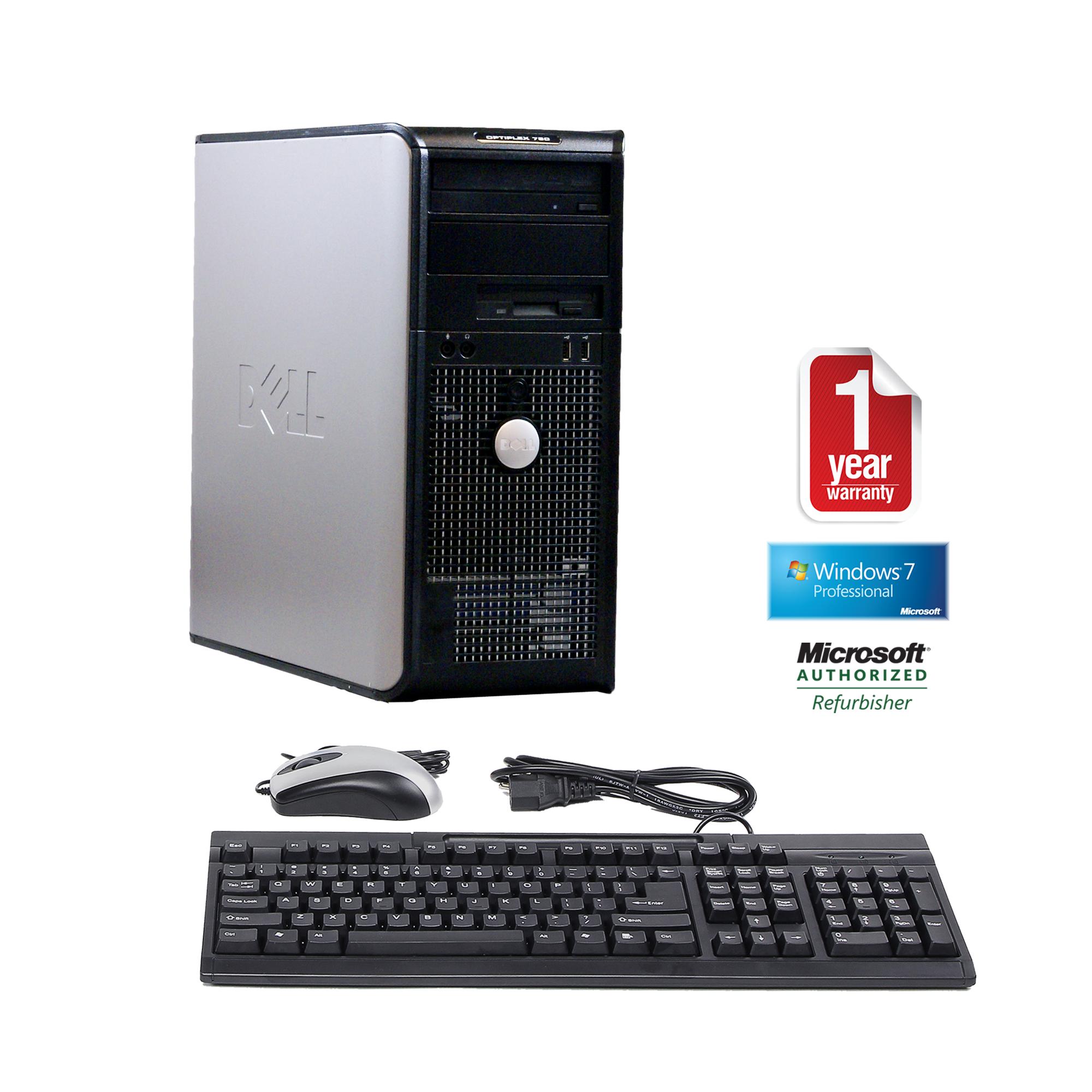 Dell 760 refurbished midtower form factor C2D 2.8/4096/750/DVDRW/W7P-64