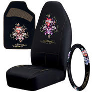 Ed Hardy Love Kills Seat Covers, Floormats and Steering Wheel Cover Bundle at Kmart.com