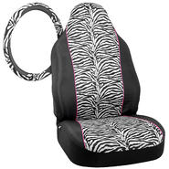 Zebra Seat Covers and Steering Wheel Cover bundle at Kmart.com