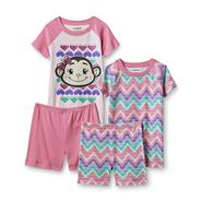 Joe Boxer Girl's 2 Pairs Pajamas - Monkey at Kmart.com